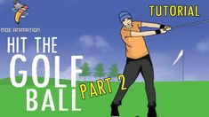 MEMBUAT ANIMASI GERAKAN MEMUKUL BOLA GOLF - PART 2 (COLORATION AND BACKG...