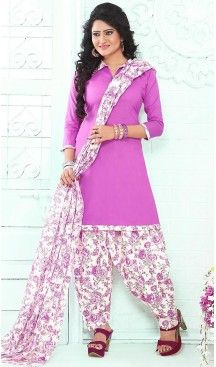 Fuchsia Color Cotton Straight Cut Punjabi Stitched Patiyala Dress   FH464572433 #Heenastyle #Punjabisuit #Salwarsuit, #SalwarKameez, #Dreses, #Patiyala