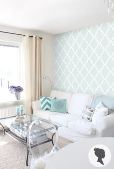 Self Adhesive Moroccan Pattern Removable Wallpaper by Livettes