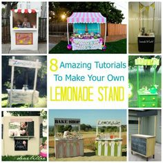 Make a cute lemonade stand - bake shop - ice cream stand - for your kiddos this summer! DIYs collected by Craft Gossip.