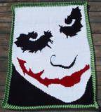The Joker - Heath Ledger afghan - tunisian crochet - for B Crochet Geek, C2c Crochet, Crochet Quilt, Crochet Chart, Crochet Patterns, Crochet Blankets, Joker Heath, Joker Batman, Gotham Batman