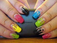 Paint drips #nails #sony