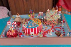 A CARNIVAL PARK BIRTHDAY CAKE