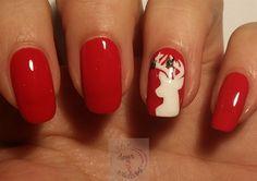 Reindeer nail art by daysofnailartnl from Nail Art Gallery