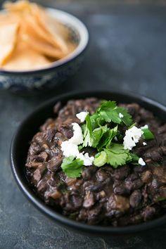 Refried black beans  | www.partyista.com