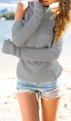 Cupshe Shrug it Off Knit Sweater