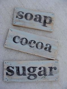 Vintage-looking painted sign from salvaged wood