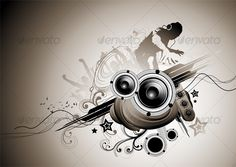 VECTOR DOWNLOAD (.ai, .psd) :: https://realistic.photos/article-itmid-1000117310i.html ... Beauty in Dark Places ...  concept, dance, design, dj, grunge, icon, music party, symbol, vector, wen design  ... Vectors Graphics Design Illustration Isolated Vect