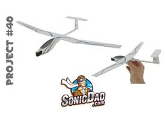 Learn to make a foam glider airplane from styrofoam picnic plates! Simple SonicDad Project Plans show you how to build it from common household items. Project #40 at SonicDad.com