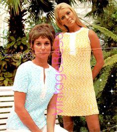 Ladies Dress KNITTING Pattern Vintage 1960s KNITTING Pattern Mod Clothing Jumper Top Pattern Pdf Pattern Vintage Beso Dress Pattern by VintageBeso on Etsy