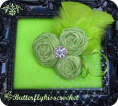 Lime Green Margarita Trio Rolled Fabric by butterflykisscrochet, $20.00