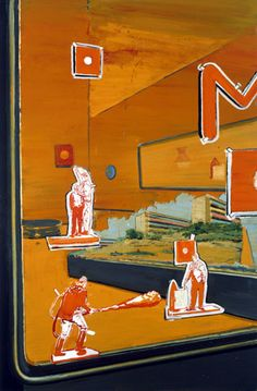 Neo Rauch  Modell  1998  Oil on canvas  63 x 41 3/8 inches (160 x 105 cm)