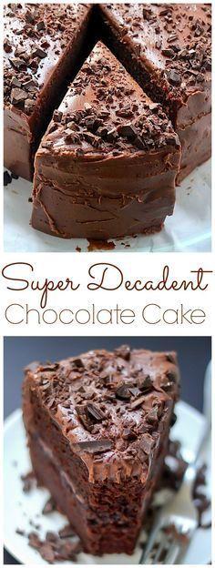 Super Decadent Chocolate Cake with Chocolate Fudge Frosting | Easy Recipe #recipes #food #easyrecipe #healthy #easy #cake #cookies #dessert #vegan #ideas #comfortfood #dinnerrecipes #homemade #easter #brunch #crust