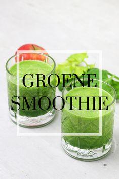 Een heerlijk frisse smoothie met spinazie, appel en bleekselderij. Lekker tussendoortje of ontbijt. Juices, Alcoholic Drinks, Vegetarian, Vegetables, Healthy, Tips, Recipes, Food, Recipies