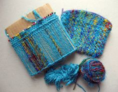 Ruth's weaving projects  cute little pouches with small looms  on the go projects
