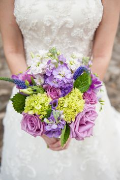 #Bouquet | Lavender and Purple - Popular Wedding Colors | See the wedding on SMP Georgia -  Scobey Photography: http://www.stylemepretty.com/georgia-weddings/2013/11/19/the-gardens-at-great-oaks-from-scobey-photography/