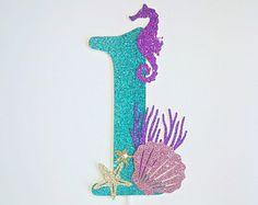 Mermaid cake topper, under the sea cake topper, mermaid decoration, purple mermaid, fiesta de sirenas, mermaid tails.