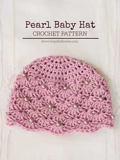 Crochet baby girl hat pattern hopeful honey 45 new Ideas Crochet Vintage, Crochet Diy, Crochet For Kids, Crochet Crafts, Crochet Projects, Crochet Ideas, Crochet Tutorials, Sewing Projects, Diy Crafts