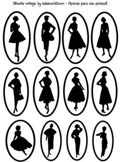 free printable - vintage silhouette