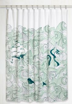 Swell Acquainted Shower Curtain, #ModCloth