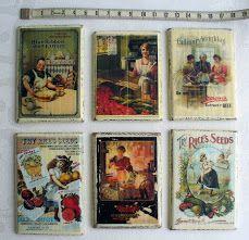 magnesy na lodówkę - stare reklamy na deseczce