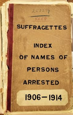 'Unknown' entries on Home Office list of suffragettes arrested 1906-1914 (catalogue reference HO 45/24665)