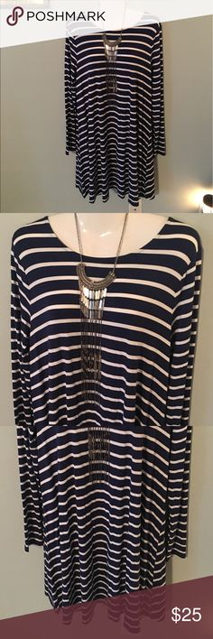 #Striped #Swing #Dress #Flowy #Classy #Comfy XL 14 Super lightweight and flowy. Swing dress w great movement. Dresses