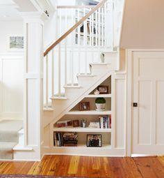 organizing under stairs closet - Google Search