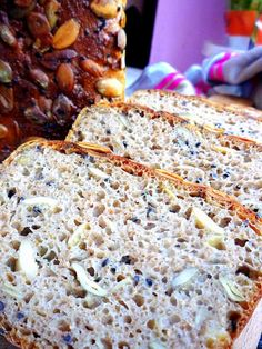 AdamPiekarz: chleby żytnie Ciabatta, Bread Baking, Bread Recipes, Banana Bread, Good Food, Rolls, Food And Drink, Gluten Free, Cooking