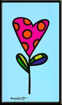 """_Romero Britto """"Polka Dot"""" Print - Framed"""