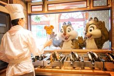 Chip and Dale want some Mickey waffles!