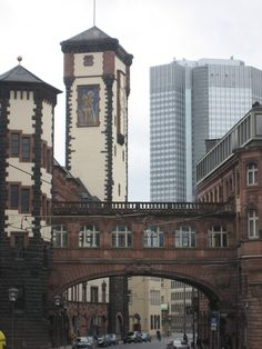Frankfurt Germany where the old meets the new...