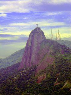 Christ The Redeemer & Antennas - Rio de Janeiro - Brazil Destinations, Christ The Redeemer, Landscape Concept, Travel Abroad, Rio Cake, Monument Valley, Tower, America, Vacation Travel