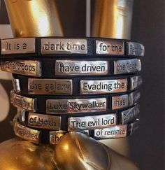 Empire Strikes Back crawl wrap bracelet by Love And Madness