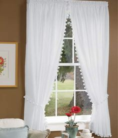 Classic Ball Fringe Perma-Press Rod Pocket Curtains  http://www.countrycurtains.com/product/010160388+classic+ball+fringe+perma-press+rod+pocket+curtains.do?sortby=ourPicks