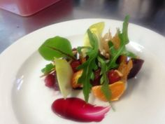 @kingarmskitchen - Salt baked beets goats curd pine nuts clementine #FeedYourEyes July/Aug