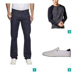 """Männer Outfit """"CASUAL DAY """"SALSA"""" """". Auf mensway.de findest Du viele verschiedene Outfits für Männer."""