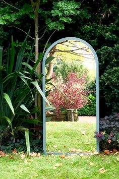 Autumn reflections in an Aldgate Home commissioned window mirror Garden Mirrors, Window Mirror, Single Rose, The Little Prince, Garden Gates, Outdoor Gardens, Reflection, Restoration, Outdoor Structures