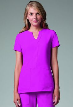 Grey's Anatomy Signature Series Mock Wrap Top #2116. Available in 12 colors! NationalScrubs.com