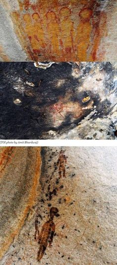 """""""AMAZING new evidence - these 10,000yr old rock paintings found in India depict extraterrestrials and their craft!"""""""