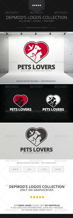 Pets Lovers  Logo Design Template Vector #logotype Download it here: http://graphicriver.net/item/pets-lovers-logo/7847392?s_rank=1663?ref=nexion