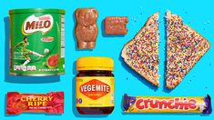 Scroll through our complete guide to the best Australian snack foods and candy, including Lamingtons, Tim Tims, and Jaffles. Australian Candy, Australian Food, Diabetic Recipes, Snack Recipes, Healthy Recipes, Snacks, Aussie Food, Australia Day, Iconic Australia