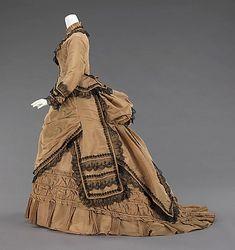 Walking dress,  1870–75, silk