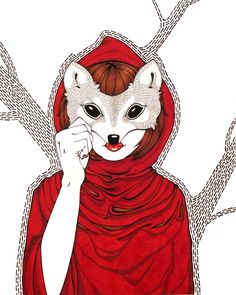 Red Riding Hood by Rose Wong - Wolf Mask