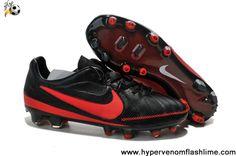 Cheap Discount Black Red Nike Tiempo Legend V FG Soccer Boots Shop