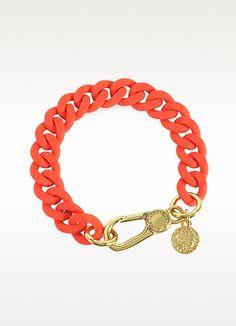 Orange Glow Rubber Chain Bracelet - Marc by Marc Jacobs