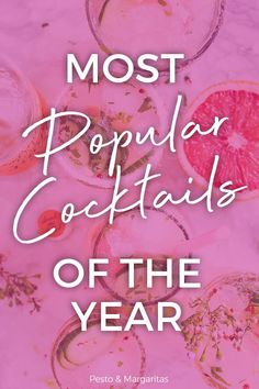 Most popular cocktails of the year! Everyone loves a good cocktail - but which one exactly? Check out these favourites from around the world on the best and tastiest cocktails of 2019 and grab yourself something a little different to try this year! Gin Cocktail Recipes, Sweet Cocktails, Bourbon Cocktails, Sangria Recipes, Low Calorie Tequila Drinks, Fruity Drinks, Alcoholic Drinks, Classic Gin Drinks, Triple Sec Cocktails