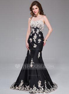 Evening Dresses - $189.99 - Trumpet/Mermaid Sweetheart Sweep Train Taffeta Evening Dress With Lace (017041032) http://jjshouse.com/Trumpet-Mermaid-Sweetheart-Sweep-Train-Taffeta-Evening-Dress-With-Lace-017041032-g41032
