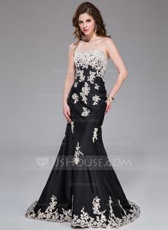 Evening Dresses - $189.99 - Mermaid Sweetheart Sweep Train Taffeta Evening Dress With Lace (017041032) http://jjshouse.com/Mermaid-Sweetheart-Sweep-Train-Taffeta-Evening-Dress-With-Lace-017041032-g41032?ver=xdegc7h0