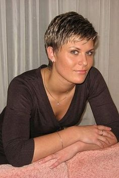 My New Hair Cut - very short hair styles for women photos. Very cute! Wish I could do this.
